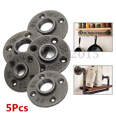 5pc 1/2'' 3/4'' 1'' Malleable Floor Flange Iron Pipe Fitting Threaded Wall Mount