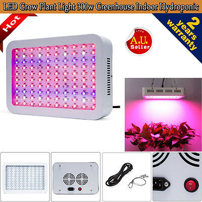 300W LED Full Spectrum Grow Light Veg Flower Hydroponics Indoor Plant Lamp Panel