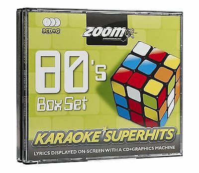 Zoom Karaoke CD+G 80s Superhits Box Set 3 Discs New Sealed