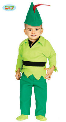 GUIRCA Costume peter pan baby arciere carnevale bambino mod. 8597_