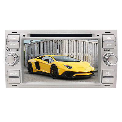 "2 Din 7"" Car Radio DVD Stereo GPS SatNav Bluetooth For Ford Transit/Galaxy/Kuga"