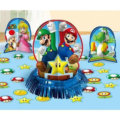 Super Mario Bros Table Decorating Kit Birthday Party Centerpieces Confetti