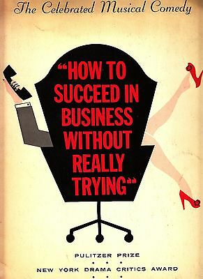How To Succeed in Business Without Really Trying Musical Vintage Program