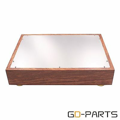 Wood Aluminum AMP Chassis Enclosure For Vintage Hifi Audio DIY 380*280*70mm 1PC