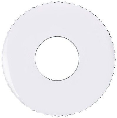 Biedermann & Sons Candle Bobeches, Box of 12, Clear Glass With Serrated Rim