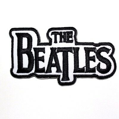 The Beatles UK Rock Music band White Logo Punk Embroidered Applique Iron Patch