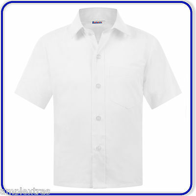 """New Good Quality Banner Mens Adults Short Sleeve Shirt Twin Pack 14""""-17"""" (3215)"""