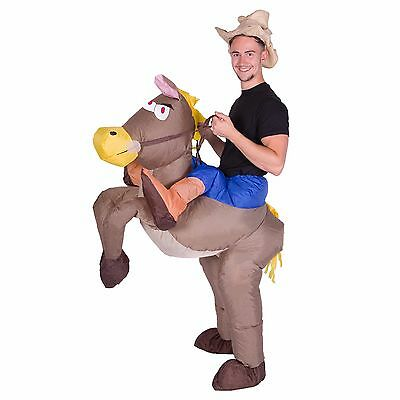 Inflatable Horse Riding Cowboy Adult Fancy Dress Costume Stag Hen Night Outfit