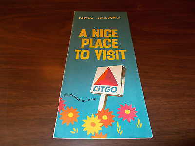 1970 Citgo New Jersey Vintage Road Map