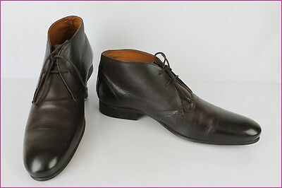 Bottines Boots Chaussures SELECTED Cuir Marron T 45 TBE