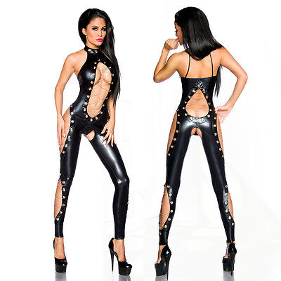 """Saresia! Sexy Wetlook Overall & String, Jumpsuit Party Outfit Gr. XS-XL """"18170"""""""