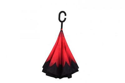 Modern Upside Down Umbrella Reverse C-Handle Double Layer Inside-Out 13 Color *