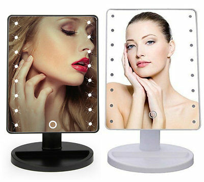 16 LED Illuminated Touch Screen Make Up Cosmetic Tabletop USB Vanity Mirror