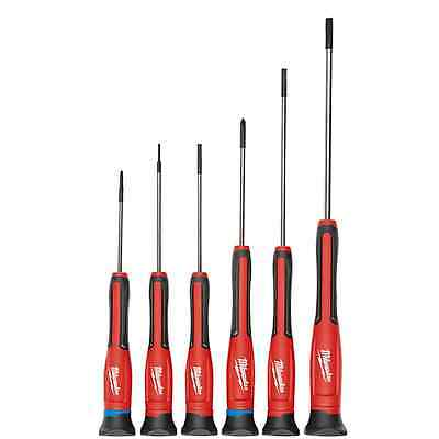 Genuine Milwaukee 6 PC Precision Screwdriver Set w/ Case 48-22-2606