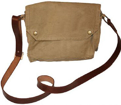 Indiana Jones MKVII Gas Mask Bag with Leather Strap - Genuine 1941/2