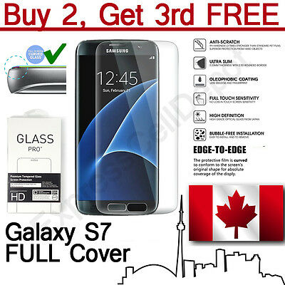 Premium Full Cover Tempered Glass Screen Protector for Samsung Galaxy S7