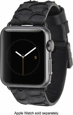 Case-Mate - Scaled Smartwatch Band for Apple Watch™ 38mm – Black CM032787