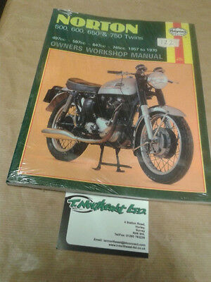 Haynes Manual 187 For NORTON 500,600,650,& 750 Twins 1957 to 1970