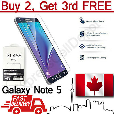 Premium Tempered Glass Screen Protector for Samsung Galaxy Note 5