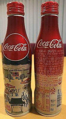 Coca-Cola Korea 2016 - Christmas alumium bottle with screw top. Full and perfect