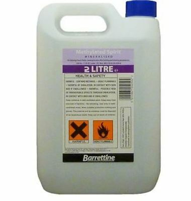 Brand New Barrettine Methylated Spirit 2Ltr
