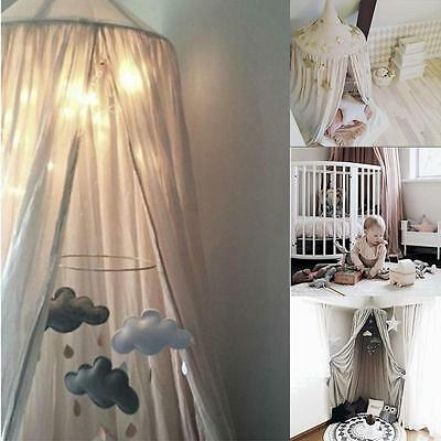 Kids Children Bedding Round Dome Bed Canopy Bedcover Mosquito Net Home Decor