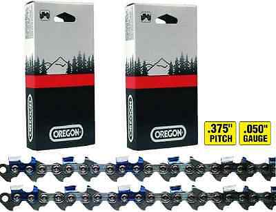 "2 Oregon 72LGX072G Chainsaw Chain Loops, .375"" Pitch x .050""Gauge, 72 Drive Link"