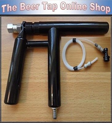 "Beer Tap Pluto Gun with 3/16"" Beer Line. Opt Ball Lock Disconnect for Corny Kegs"