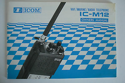 Icom-M12 (Genuine Owners Manual Only)..........radio_Trader_Ireland.