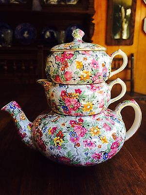 "Lord Nelson Chintz Stackable Tea Set ""Marina"""