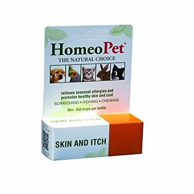 HomeoPet SKIN ITCH RELIEF Homeopathic Safe Natural Remedy Dog Cat Bird 15ml