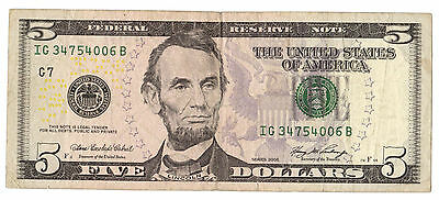 5 dollari 2006 united states BB