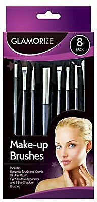 Make-up 8 Pack Glamorize Cosmetic Brush Set,Blusher,For Comb,Eye Shadow,Eyebrow