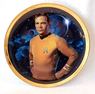 "STAR TREK 25th ANNIVERSARY PLATE OF ""KIRK"" -  HAMILTON COLLECTION # 07856"