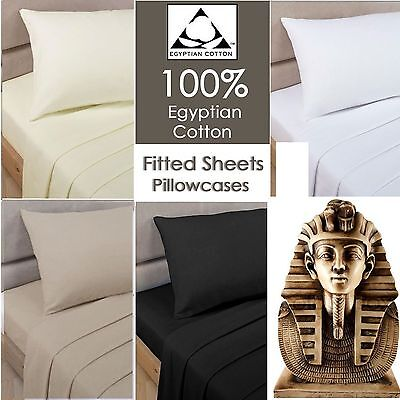100% Egyptian Cotton 500 Thread Count Luxury Whitte Fitted Sheet Extra deep