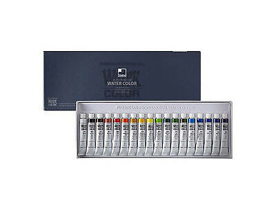 [ShinHan] Watercolor Paint Set 18Colors 7.5ml Tube for Professional Artist