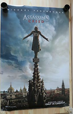 ASSASSIN'S CREED - Authentic UK Cinema One Sheet Movie Poster Fassbender film