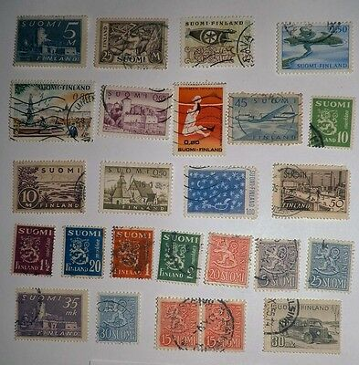A Collection of Stamps from Finland, #78/28.