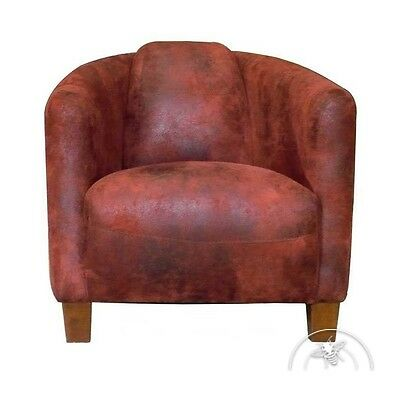 Fauteuil club tissu rouge - Opéra