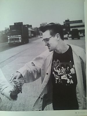 Morrissey The Smiths Accepts a Chrip in June 1986 From Music Mag 29x22cm