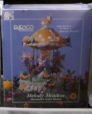 RARE Melody Meadow Mice Carousel Multi-Action/Lights Music Box 1 Owner ~Me!