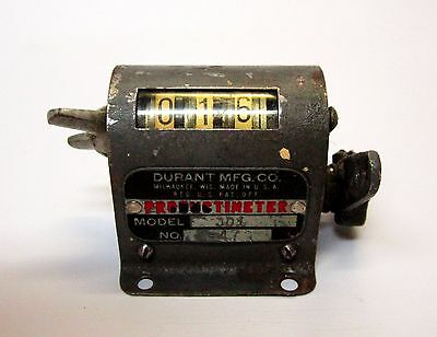 Vintage1947 Productimeter Durant Mfg. Co. Counter /equipment 3-D-1