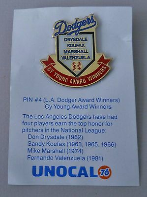 Vintage 1988 Unocal 76 Los Angeles Dodgers Cy Young Award Winners pin # 4
