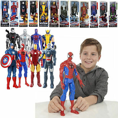 "Avengers Marvel Titan 12"" figure Spider-man Captain Iron man Wolverine Thor Toy"