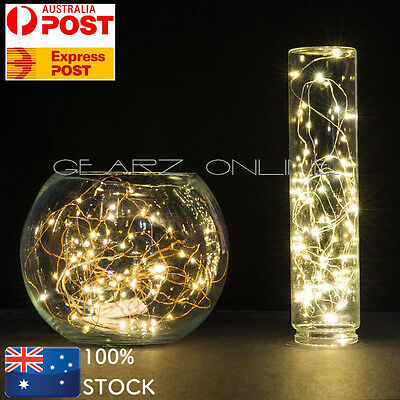 2-10M LED Copper Wire String Lights Battery Powered Multi White Warm Waterproof