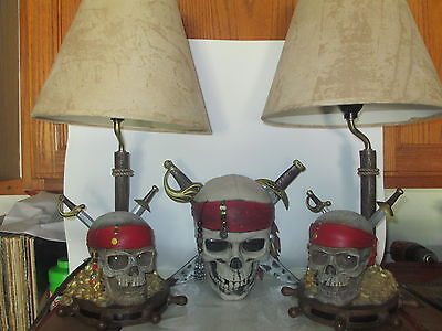 Disney Pirates of the Caribbean Set of Lamps & Wall Hanging