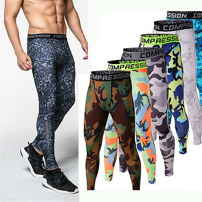 Men Base Layer Compression Pants Running Yoga Workout Tights Gym Sports Trousers