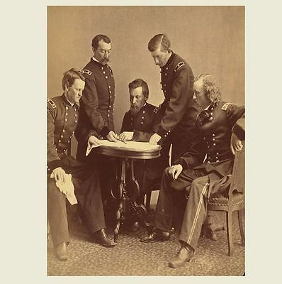 1864 General George Armstrong Custer Civil War PHOTO,Philip Sheridan Union Army