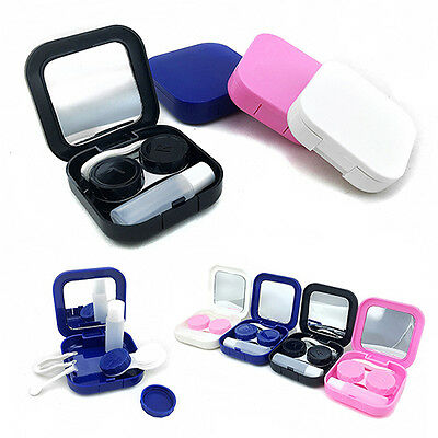 Contact Lens Case Container Travel Kit Set Storage Holder Mirror Box Latest