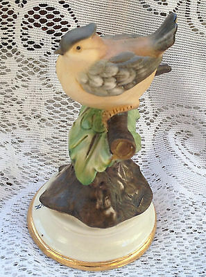 Vintage Capodimonte Bird (wren?) on Leafy Branch - France House of Heritage 383